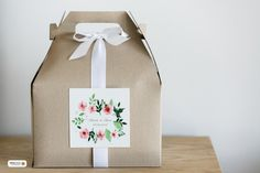 Wedding welcome gift box for the out-of-town guests.