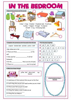 In the Bedroom Vocabulary Exercises worksheet - Free ESL printable worksheets made by teachers English Fun, English Lessons, Learn English, Comprehension Exercises, Reading Comprehension Worksheets, English Grammar Worksheets, 2nd Grade Worksheets, Printable Worksheets, Education English