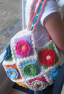 my granny square bag - howto