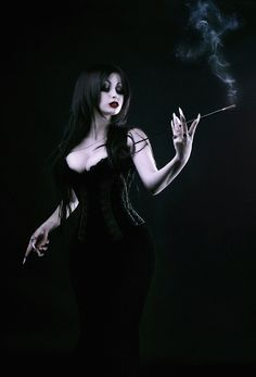Dark Goth girl - those nails are wicked                                                                                                                                                                                 More