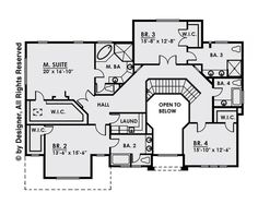 This contemporary design floor plan is 4134 sq ft and has 4 bedrooms and has 4.5 bathrooms. Contemporary Style Homes, Contemporary Design, Monster House Plans, Square Feet, Floor Plans, Flooring, How To Plan, Bedroom, Bathrooms