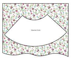cutting a quarter-circle skirt