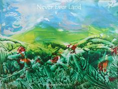 """Never Ever Land, encaustic art by Jacquelinepoparts"
