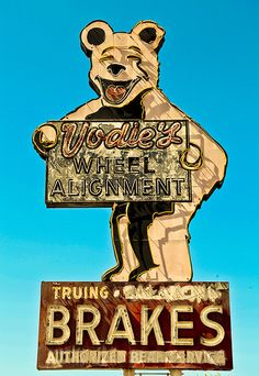 Vodies Alignment and Brakes Garden Grove CA. via flickr I remember this sign as a child.