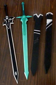 Cool swords made from foam core