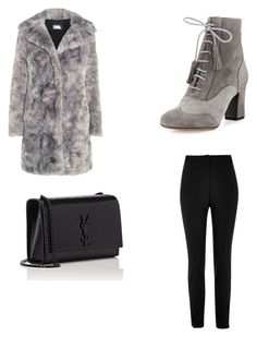 """Sin título #6"" by karlaroman-i on Polyvore featuring Karl Lagerfeld, River Island, Tabitha Simmons y Yves Saint Laurent"