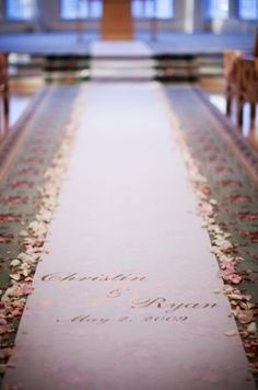 Flower petals along the aisle runner - Wedding Spotlight: Christin + Ryan | Magical Day Weddings | A Wedding Atlas Fan Site for Disney Weddings