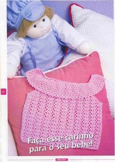 Croche pro Bebe: Batinha de croche infantil