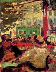 Terrace of a Café - Raoul Dufy, 1907