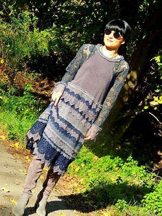 Зимнее платье в БОХО стиле (№362) – купить или заказать в интернет-магазине на Ярмарке Мастеров | ПРОДАНО<br />  Зимнее БОХО платье выполнено из…