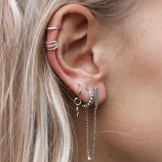 earparty, earrings, silver at http://www.my-jewellery.com Our inspiration for our #earrings stack #minimalistjewelry #minimalistjewellery #minimalist #jewellery #jewelry #jewelleries #jewelries #minimalistaccessories #bangles #bracelets #rings