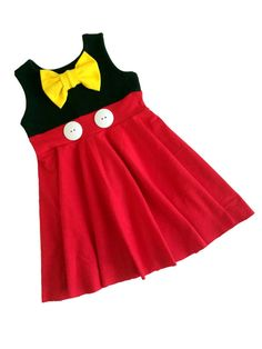 Mickey Mouse Character Inspired Dress Red/Black by TheGypsyGeek