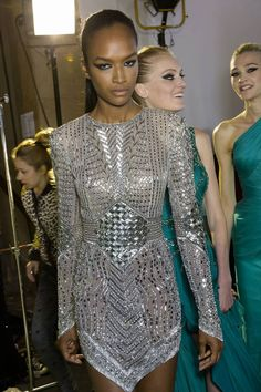 Backstage at Zuhair Murad Haute Couture Fall Winter 2014 Show