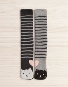 High socks with cats