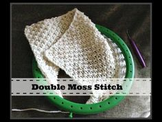 Loom Knit the Double Moss Stitch Pattern – Loom Knitting Videos Round Loom Knitting, Loom Knitting Stitches, Spool Knitting, Loom Knitting Projects, Knifty Knitter, Knitting Videos, Easy Knitting, Double Knitting, Cat Cross Stitches