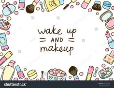 Cute makeup frame for Your design