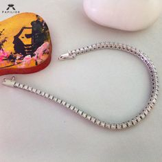 Complete your outfit with this Single Line Diamond Bracelet. Diamond Bracelets, Diamond Jewelry, Gold Jewelry, Jewelry Bracelets, Jewellery, Single Line, Hoop Earrings, Jewels, Outfit