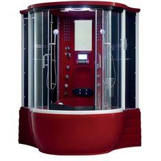 Florence Acrylic/Glass/Stainless Steel Steam Shower Sauna with Jacuzzi Whirlpool Massage Bathtub - 18863788 - Overstock.com Shopping - Great Deals on Maya Bath Saunas