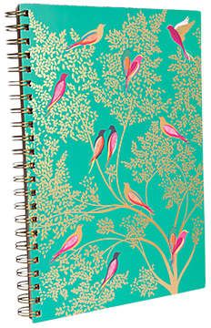 Gorgeous colours! #SponsoredLink. Sara Miller A4 Birds Notebook, Turquoise