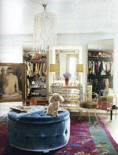 Dressing area of Nanette Lepore, designed by Jonathan Adler.