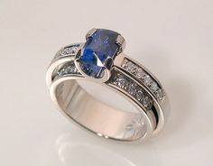 SAPPHIRE RING - DOUBLE SHANK