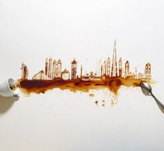 Creative Paintings With Coffee by Giulia Bernardelli