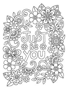 Printable Inspirational Coloring Pages Inspirational Related Image to Color Inspirational Quote Coloring Pages, Coloring Pages Inspirational, Printable Adult Coloring Pages, Free Coloring Pages, Coloring Books, Coloring Sheets, Colouring Pages For Adults, Doodle Coloring, Mandala Coloring