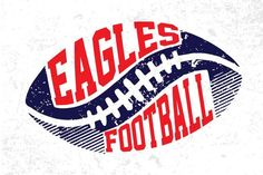 Check out our eagles svg selection for the very best in unique or custom, handmade pieces from our shops. Football Mom Shirts, Football Boys, Sports Shirts, Basketball Mom, Football Logo Design, Mascot Design, School Spirit Shirts, School Shirts, Too Cool For School