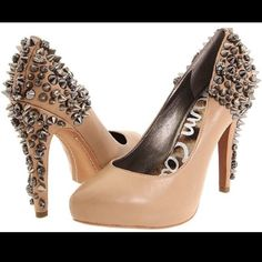 """Sam Edelman Studded Nude Heels Studded nude heels. Almost new condition. Size 9. Original box NOT included. Heel height about 4.5"""". Sam Edelman Shoes Heels"""