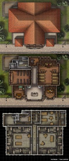 The Judicer's Hall - A Three Level Town Hall, Courtroom and Prison : battlemaps
