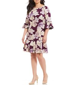 e5bdaa78ed3 Shop for Jessica Howard Plus Size Floral Bell Sleeve Flounce Hem Sheath  Dress at Dillards.com. Visit Dillards.com to find clothing