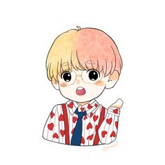 Soft Wallpaper, Pretty Phone Wallpaper, Cartoon Wallpaper Iphone, Bts Wallpaper, Taehyung Fanart, Vkook Fanart, Cute Cartoon Drawings, Kpop Drawings, V Chibi