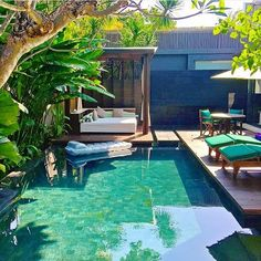 W Resort and Spa - Bali Credits ✨ him out for millionaire lifestyle! Swimming Pools Backyard, Garden Pool, Pool Landscape Design, Garden Design, Vertical Garden Wall, Outdoor Gazebos, Outdoor Living, Outdoor Decor, Outdoor Spa