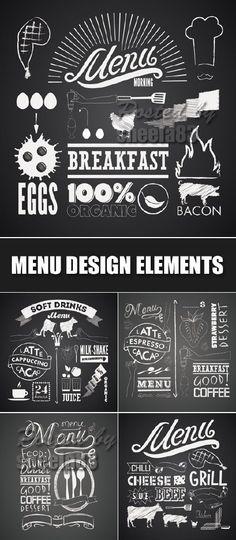 Vintage Menu Design Elements Vector
