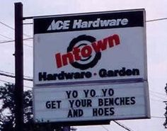come down to Intown hardware and garden and get your benches and hoes!