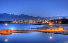 The Most Beautiful Places in North America - Kits Beach, Vancouver. By Duane Storey O Canada, Canada Travel, Bc Home, Beach Night, North Vancouver, Vancouver Island, Selling Real Estate, Sunshine Coast, Beach Photos