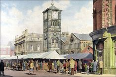 Blackburn Museum and Art Gallery paints a picture of how the area has changed in a new exhibition of over 40 paintings dating from 1848 to Republic Of Ireland, Traditional Paintings, Anglo Saxon, British Isles, Northern Ireland, Far Away, Landscape Art, Vintage Photos, Art Gallery