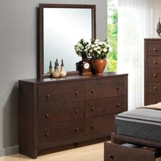 Coaster Remington Drawer Dresser w/ Mirror - Coaster Fine Furniture