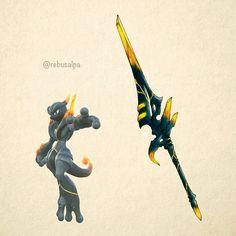 Shadow Mewtwo Weapon by Rebusalpa