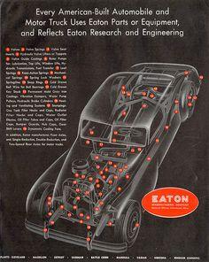 Inside a car (c1950)