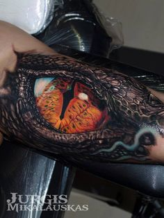 Realistic Reptile Eye Tattoo - http://giantfreakintattoo.com/realistic-reptile-eye-tattoo/