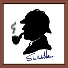 I believe this is the sketch done by Peter Cushing himself. #Sherlock Holmes #sketch #Cushing