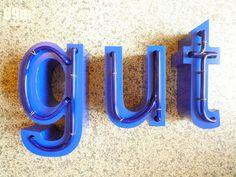 "Vintage Leuchtbuchstabe ""gut"" // vintage illuminated letters by 69m^2 via DaWanda.com"