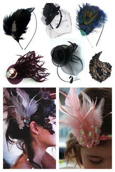 Elegantes enfeites de cabelo para o Carnaval!