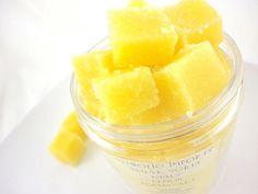 Lemon Poundcake  Sugar Scrub Cubes  8 ounce Jar by SymbolicImports, $11.00