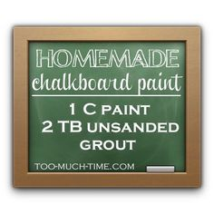 DIY Chalk Board Paint
