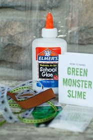 all things simple: halloween fun: monster slime kit Mad Science Party, Mad Scientist Party, Halloween Science, Halloween Activities, Holidays Halloween, Halloween Gifts, Halloween Party, Halloween Ideas, Spooky Halloween