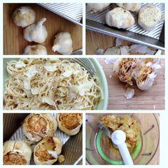 How to Roast Garlic  Roasted Garlic & Parmesan Noodles