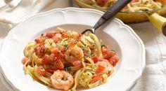 Prawn, chilli, pasta