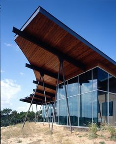 Trahan Ranch is a stunning residential modern compound designed by Patrick Tighe Architecture, situated in the heart of hill country in Austin, Texas. Amazing Architecture, Contemporary Architecture, Architecture Details, Interior Architecture, Tropical Architecture, Contemporary Houses, Landscape Architecture, Facade Design, House Design
